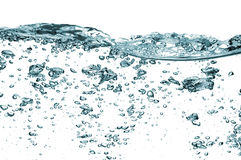 Luftblasen getrennt über Weiß lizenzfreies stockfoto