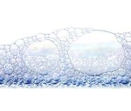 Luftblasen getrennt auf Weiß Stockbild
