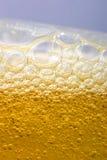 Luftblasen im Bier Stockbilder