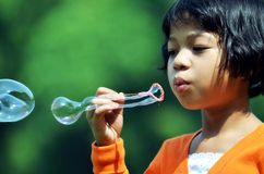 Luftblasen-Mädchen 01 Lizenzfreie Stockfotos