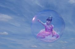 Luftblasen-Prinzessin 2 Stockfotos