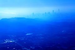Luftblicken på guangzhou arkivbilder