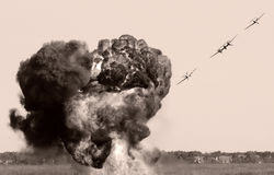 Luftbombardierung Stockfotografie