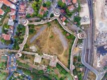 Luftbrummen-Ansicht von Yedikule-Festung in Istanbul/in der Türkei lizenzfreie stockfotos