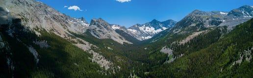 Luftbrummen-Panorama - Colorado Rocky Mountains, Sangre de Cristo Range Stockbilder