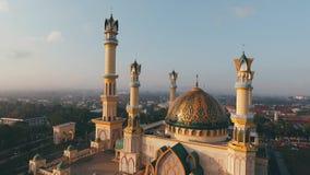 Luftbrummenansicht Moschee stock footage