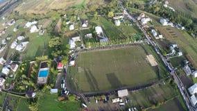 Luftbrummenbild der Ackerlandlandschaft Lizenzfreie Stockfotografie