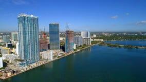 Luftbrummenfoto Edgewater Miami Florida USA lizenzfreie stockfotos