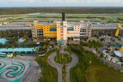Luftbrummenfoto Gehöft-Speedway Miami FL, USA Stockfotos