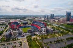 Luftbrummenfoto Nissan Stadium lizenzfreie stockfotografie