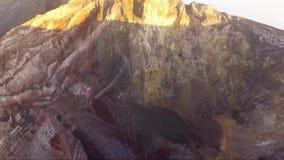 Luftbrummengesamtlänge auf dem Berg Agung Summit, Bali-Insel, Indonesien stock video
