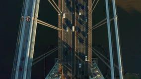 Luftbrummenschuß von George Washington Bridge stock video