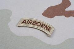 Luftburen flik för USA-ARMÉ Arkivfoto