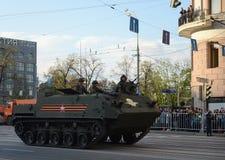 Luftburna bepansrade personalbäraren som kan användas till mycket BTR-MDM Rakushka Royaltyfri Bild