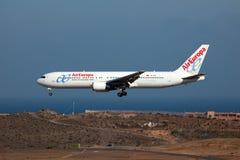 LuftEuropa Boeing 767-300 Royaltyfri Bild