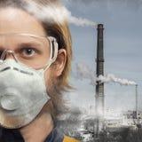 Luftförorening arkivbild
