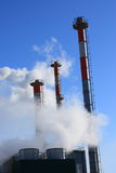 Luftförorening och global uppvärmning - materielfoto Royaltyfria Foton
