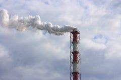 Luftförorening och global uppvärmning - materielfoto Arkivfoto