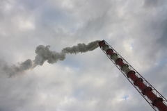 Luftförorening och global uppvärmning - materielfoto Arkivfoton