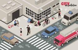 Luftföroreningbakgrund royaltyfri illustrationer