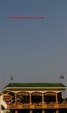 Luftfahne über Stadion Lizenzfreies Stockbild