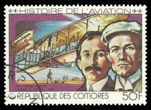 Luftfahrt-Geschichte, Wright-Brüder lizenzfreie stockfotos