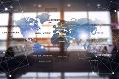 Luftfahrt International conncetions lizenzfreies stockbild