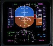 Luftfahrt lcd-Bildschirmanzeige stockbild