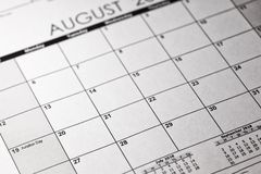 Luftfahrt-Tageskonzept US nationales 19. August 2018 Kalender stockfoto