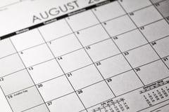 Luftfahrt-Tageskonzept US nationales 19. August 2018 Kalender lizenzfreie stockfotos