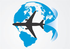 Luftfahrt um die Kugel. lizenzfreie stockfotos