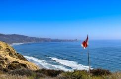 Luftfahrt Windsock bei Torrey Pines Glider Port in San Diego lizenzfreie stockfotografie