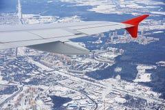 Luftfahrtbild von Moskau Sheremetievo von der Vogelperspektive Lizenzfreies Stockbild