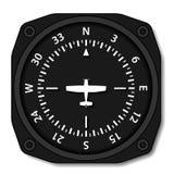 Luftfahrtflugzeug-Kompassdrehungen Lizenzfreies Stockbild