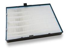 Luftfilter för hög effektivitet för HVAC-system På white arkivbild