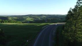 Luftflyg över vägen lager videofilmer
