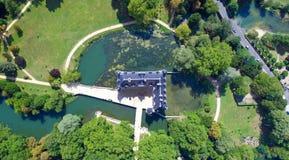 Luftfoto azay Schlosses le Rideau lizenzfreie stockbilder