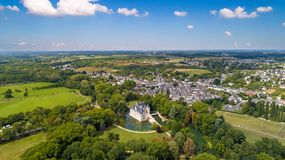 Luftfoto azay Schlosses le Rideau lizenzfreie stockfotos