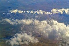 Luftfoto der Landschaft in Tibet lizenzfreies stockfoto