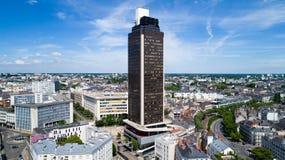 Luftfoto des Ausflugs de Bretagne im Nantes-Stadtzentrum lizenzfreie stockfotografie