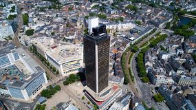 Luftfoto des Ausflugs de Bretagne im Nantes-Stadtzentrum lizenzfreie stockfotos