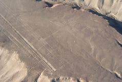 Luftfoto des Kolibris, Nazca zeichnet, Peru lizenzfreies stockbild