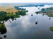 Luftfoto von Alappuzha Indien Stockfoto
