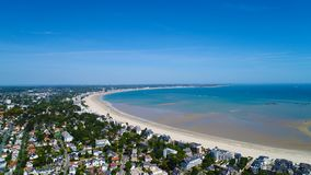 Luftfoto von Bucht La Baules Escoublac stockfoto