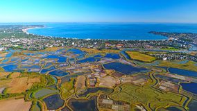 Luftfoto von Bucht La Baules Escoublac stockbild