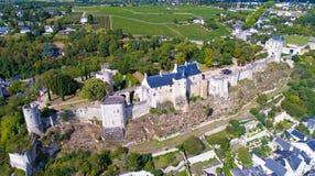 Luftfoto von Chinon-Schloss lizenzfreie stockfotografie