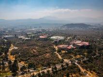 Luftfoto von Espacio Escultorico in Mexiko City lizenzfreie stockfotografie