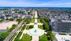 Luftfoto von Garten Le Mail verärgert herein lizenzfreie stockbilder