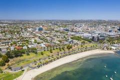 Luftfoto von Geelong in Victoria, Australien lizenzfreie stockbilder