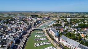 Luftfoto von Hafen Le Pouliguen in der Loire Atlantique stockfoto